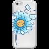 """Чехол для iPhone 5 глянцевый, с полной запечаткой """"Happy Postcrossing!"""" - postcrossing, посткроссинг, почтовые открытки"""
