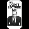 """Чехол для iPhone 5 глянцевый, с полной запечаткой """"don't lecture me! Lavrov"""" - россия, russia, лавров, lavrov, weloverov"""