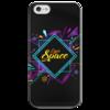 """Чехол для iPhone 5 глянцевый, с полной запечаткой """"Love Space"""" - звезды, космос, вселенная"""
