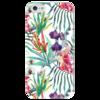 """Чехол для iPhone 5 глянцевый, с полной запечаткой """"Тропические цветы"""" - милый, лето, пальма, орхидея, женственно"""