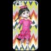 "Чехол для iPhone 5 глянцевый, с полной запечаткой ""Маленькая Таджичка"" - арт, адрас, таджичка"