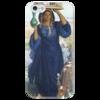 """Чехол для iPhone 5 глянцевый, с полной запечаткой """"Послесвечение в Египте (Уильям Холман Хант)"""" - картина, хант"""