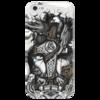 """Чехол для iPhone 5 глянцевый, с полной запечаткой """"Великий Один"""" - один, мифы, бог, викинги, путь воина"""