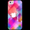 """Чехол для iPhone 5 глянцевый, с полной запечаткой """"Apple"""" - арт"""