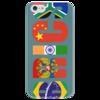 """Чехол для iPhone 5 глянцевый, с полной запечаткой """"BRICS - БРИКС"""" - россия, китай, индия, бразилия, юар"""
