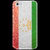 "Чехол для iPhone 5 глянцевый, с полной запечаткой ""Флаг Таджикистана"" - арт, флаг таджикистана"