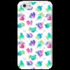 """Чехол для iPhone 5 глянцевый, с полной запечаткой """"петушки"""" - новый год, петух, петушок, петушки, петухи"""