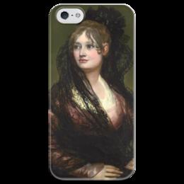 """Чехол для iPhone 5 глянцевый, с полной запечаткой """"Портрет донны Исабелъ де Порсель"""" - картина, гойя"""