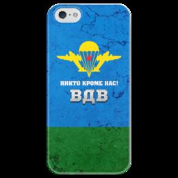 """Чехол для iPhone 5 глянцевый, с полной запечаткой """"Воздушно-десантные войска"""" - вдв, десант"""