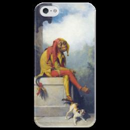 "Чехол для iPhone 5 глянцевый, с полной запечаткой ""For What Was I Created?"" - картина, берд"