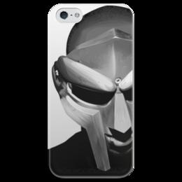 """Чехол для iPhone 5 глянцевый, с полной запечаткой """"MF DOOM"""" - стиль, iphone, doom, hip hop, underground, mf doom, metal face"""