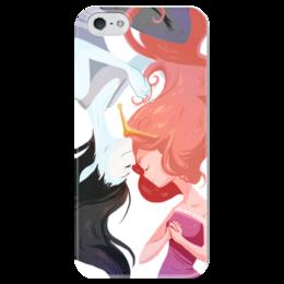 """Чехол для iPhone 5 глянцевый, с полной запечаткой """"Время приключений"""" - принцесса, adventure time, время приключений, марселин, бубльгум"""
