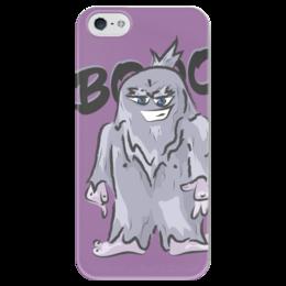"Чехол для iPhone 5 глянцевый, с полной запечаткой ""Yeti BOOO"" - йети, yeti"