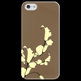 """Чехол для iPhone 5 глянцевый, с полной запечаткой """"Цветы"""" - арт, цветы, gold, yellow, flowers"""