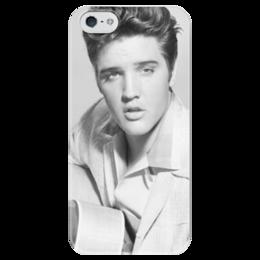 """Чехол для iPhone 5 глянцевый, с полной запечаткой """"Elvis Presley"""" - музыка, рок, классика, пинап, элвис, рок н ролл, блюз, elvis, 50ые, presley"""