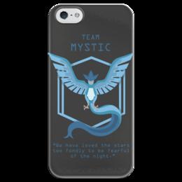"""Чехол для iPhone 5 глянцевый, с полной запечаткой """"Team Mystic"""" - мультфильм, pokemon, покемон, мистик, mystic"""