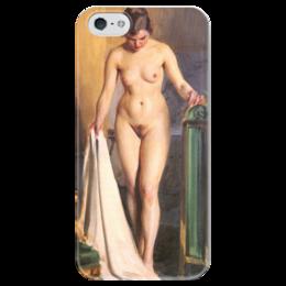 "Чехол для iPhone 5 глянцевый, с полной запечаткой ""In the Bedroom"" - картина, цорн"