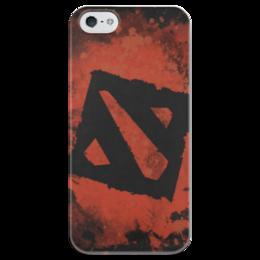 "Чехол для iPhone 5 глянцевый, с полной запечаткой ""Dota 2 - Red"" - дота 2, чехол дота 2, чехол iphon 5s dota"