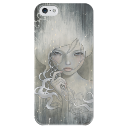 """Чехол для iPhone 5 глянцевый, с полной запечаткой """"Та, Кто Осмеливается"""" - рисунок, одри кавасаки, audrey kawasaki"""