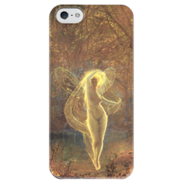 """Чехол для iPhone 5 глянцевый, с полной запечаткой """"Осень (Autumn)"""" - картина, гримшоу"""