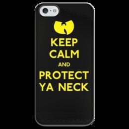 """Чехол для iPhone 5 глянцевый, с полной запечаткой """"Wu-tang"""" - keep calm, wu tang, ву тэнг"""