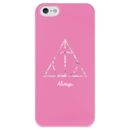 """Чехол для iPhone 5 глянцевый, с полной запечаткой """"Deathly Hallows"""" - harry potter, гарри поттер, хогвартс, hogwarts"""