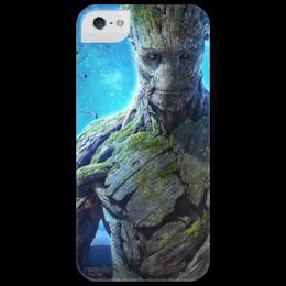 """Чехол для iPhone 5 глянцевый, с полной запечаткой """"Стражи галактики. Грут"""" - marvel, стражи галактики, грут, groot, guardians of the galaxy"""