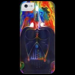 """Чехол для iPhone 5 глянцевый, с полной запечаткой """"Dart Waider (Darth Vader)"""" - арт, стиль, популярные, рисунок, прикольные, в подарок, cinema, оригинально, star wars, dark side"""
