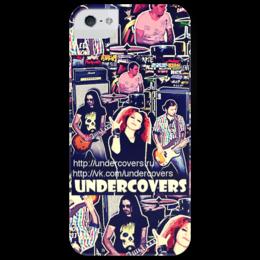 "Чехол для iPhone 5 глянцевый, с полной запечаткой ""UNDERCOVERS"" - рок, undercovers, rock band"