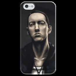 """Чехол для iPhone 5 глянцевый, с полной запечаткой """"Eminem Art"""" - eminem, art, эминем"""