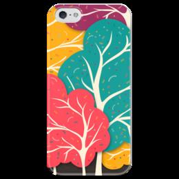 """Чехол для iPhone 5 глянцевый, с полной запечаткой """"Африканский Узор - Дерево жизни"""" - дерево, дерево жизни, tree of life"""