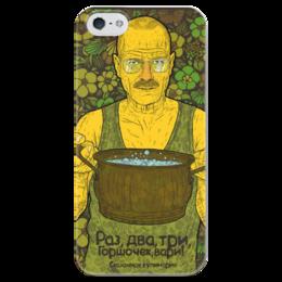 """Чехол для iPhone 5 глянцевый, с полной запечаткой """"Mr White"""" - во все тяжкие, химия, breaking bad, фэн-арт, walter white, уолтер уайт, chemistry"""