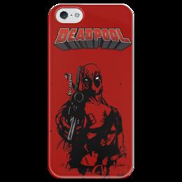 "Чехол для iPhone 5 глянцевый, с полной запечаткой ""Deadpool"" - любовь, deadpool, дэдпул"