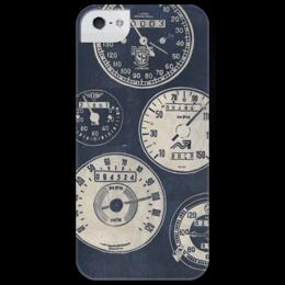 """Чехол для iPhone 5 глянцевый, с полной запечаткой """"Do The Ton"""" - speedometer, спидометр, racing, скорость"""