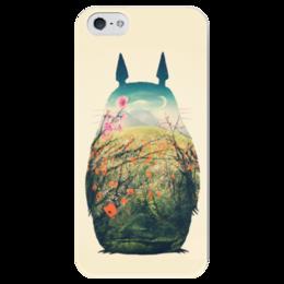"""Чехол для iPhone 5 глянцевый, с полной запечаткой """"Тоторо"""" - мульт, тоторо"""