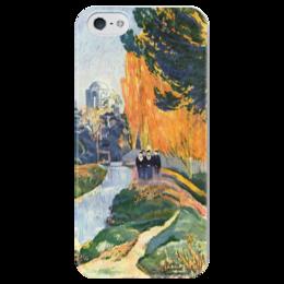 "Чехол для iPhone 5 глянцевый, с полной запечаткой ""Алискамп"" - картина, поль гоген"