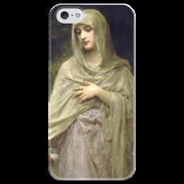 """Чехол для iPhone 5 глянцевый, с полной запечаткой """"Скромность (Modestie)"""" - картина, бугро"""