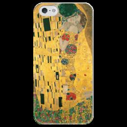 """Чехол для iPhone 5 глянцевый, с полной запечаткой """"Поцелуй (картина Густава Климта)"""" - картина, климт"""