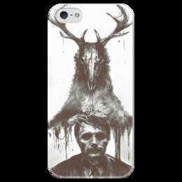 """Чехол для iPhone 5 глянцевый, с полной запечаткой """"Ганнибал"""" - сериал, ганнибал, лектер, hannibal"""