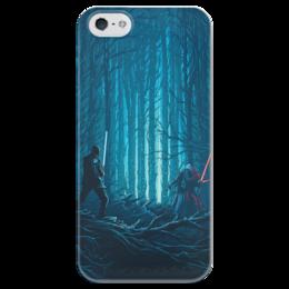 """Чехол для iPhone 5 глянцевый, с полной запечаткой """"Звездные войны"""" - звездные войны, фантастика, кино, дарт вейдер, star wars"""