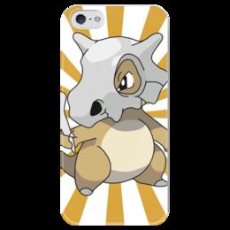 """Чехол для iPhone 5 глянцевый, с полной запечаткой """"Кубон"""" - нинтендо, nintendo, pokemon go, покемон го, cubone"""