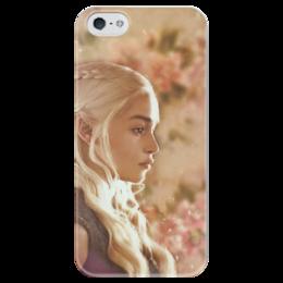 """Чехол для iPhone 5 глянцевый, с полной запечаткой """"Дейенерис Таргариен"""" - игра престолов, game of thrones, дейенерис таргариен, дейенерис"""