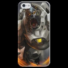"""Чехол для iPhone 5 глянцевый, с полной запечаткой """"Winston"""" - blizzard, близзард, overwatch, овервотч, уинстон"""