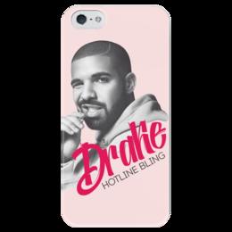 """Чехол для iPhone 5 глянцевый, с полной запечаткой """"Drake"""" - реп, drake, дрейк"""