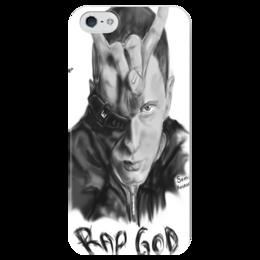 "Чехол для iPhone 5 глянцевый, с полной запечаткой ""Eminem"" - eminem, эменем"