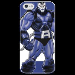 """Чехол для iPhone 5 глянцевый, с полной запечаткой """"Суперзлодеи: Апокалипсис"""" - комиксы, апокалипсис, фантастика, суперзлодеи"""