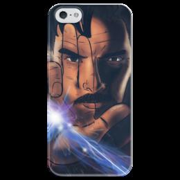 """Чехол для iPhone 5 глянцевый, с полной запечаткой """"Доктор стрэндж"""" - арт, рисунок, marvel, доктор стрэндж, dr strange"""