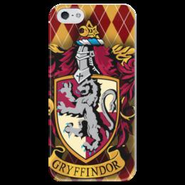 """Чехол для iPhone 5 глянцевый, с полной запечаткой """"Gryffindor"""" - арт, прикольные, в подарок, оригинально, harry potter, гарри поттер, гриффиндор, креативно, griffindor"""