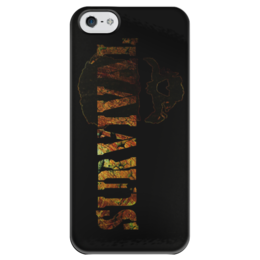 """Чехол для iPhone 5 глянцевый, с полной запечаткой """"SURVIVAL"""" - skull, череп, stalker, survival, выживание"""