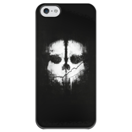 "Чехол для iPhone 5 глянцевый, с полной запечаткой ""Call of Duty Ghosts"" - игры, call of duty, callofduty, ghosts, cod"